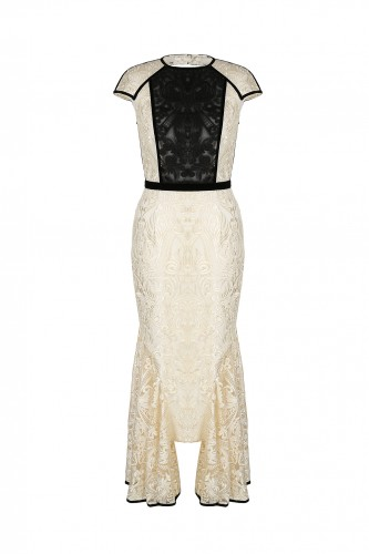 Full Elegance Dress with Embroidered Lace