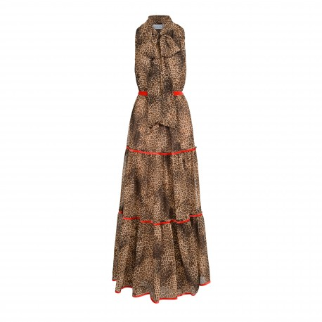 Full of Elegance Long Dress with an Animal Motif -  available again two size