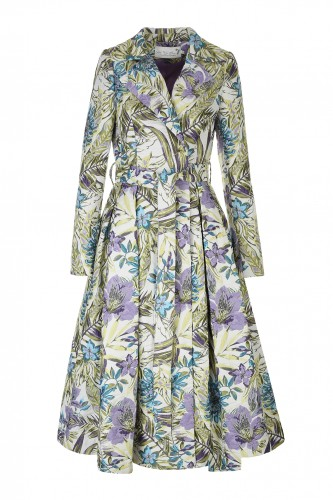 Formal coat from Embroidered Jacquard in Flowers