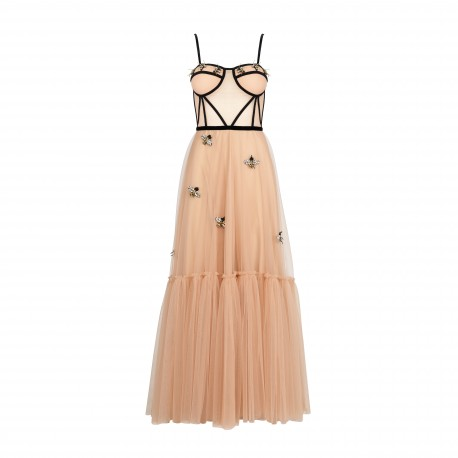 Unique Maxi Dress from Italian Tulle -