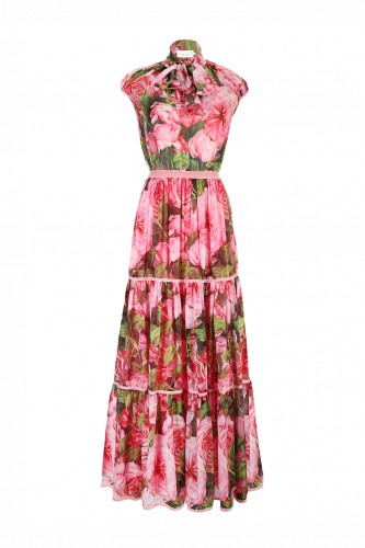 Silk Peony Dress ( ONLY 3 Pieces )