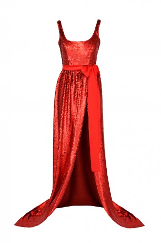 Long, Evening Dress with Sequins